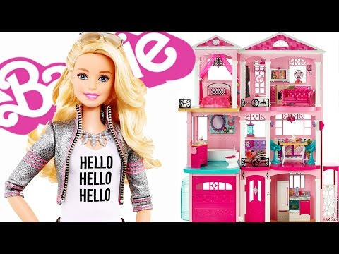 UNBOXING CASA DEI SOGNI DI BARBIE - BARBIE DREAMHOUSE TOUR 2017