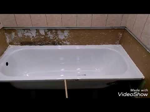 Ремонт ванной комнаты за 6 дней своими руками.