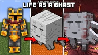 Minecraft LIFE AS A GHAST MOD / SHOOT FIREBALLS AND GO TO THE NETHER!! Minecraft