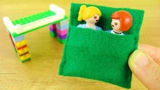 PLAYMOBIL JULIAN VOGEL SCHLAFSACK selber machen im Minecraft Stil   Bettwäsche für neues Lego Bett