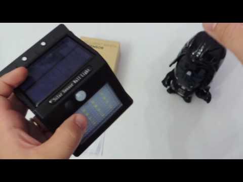 RECENSIONE Luce da Esterno con sensore di movimento e pannello solare per ricarica PICTEK