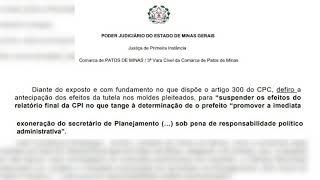 Câmara Municipal de Patos de Minas vai recorrer da decisão que isenta responsabilidade do município sobre manutenção do secretário de planejamento no cargo