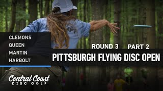 2020 Pittsburgh Flying Disc Open - Round 3 Part 2 - Clemons, Queen, Martin, Harbolt