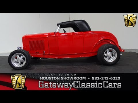 Video of Classic 1932 Roadster located in Houston Texas Offered by Gateway Classic Cars - Houston - M3R5