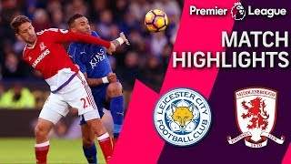 Leicester City draws Middlesbrough off Islam Slimani's penalty shot goal - dooclip.me