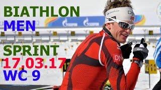 BIATHLON MEN SPRINT 17.03.2017 World Cup 9 Holmenkollen (Norway)