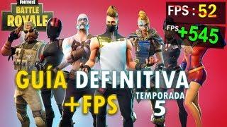 🔧 Sube +100 FPS con esta CONFIGURACIÓN de Fortnite // Temporada 5 ✔️