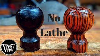 Making a Knob Without a Lathe for a hand plane