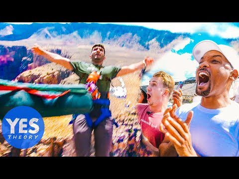 WE HELICOPTER BUNGEE JUMPED WITH WILL SMITH (over Grand Canyon)