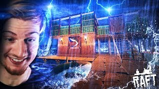 GUYS.. WE HAVE A HOUSE ON THE RAFT. (And it's awesome!)    Raft (Part 7)