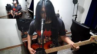MORTIFICATION - BRUTAL WARFARE Guitar Bass And Vocal Cover by JoshRiffMonster