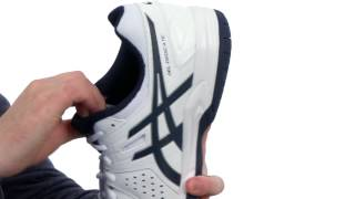 Asics Gel-Dedicate 4 Men's Shoes White Blue video