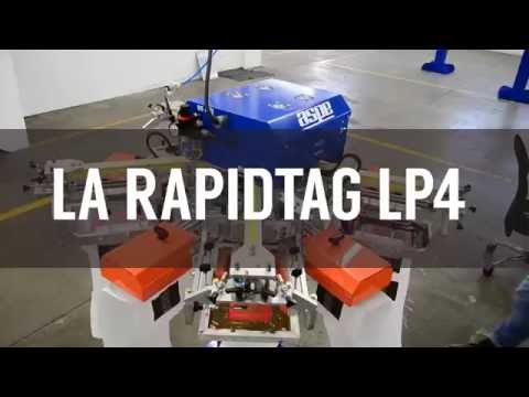 RapidTag Máquina de Serigrafía para Etiquetas (2000 piezas por Hora)