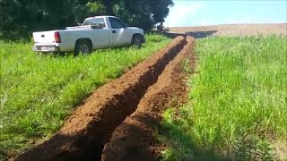 Installing 1700' of water line, Driveway and Pole Barn update 7-14-16