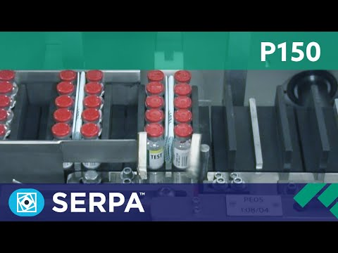 P150 Intermittent cartoner running rows of vials – Serpa Packaging Solutions
