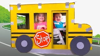 The Wheels On The Bus Kids Song with Katya and Dima