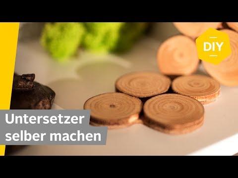 DIY: Untersetzer selber machen aus Rindenscheiben   Roombeez – powered by OTTO