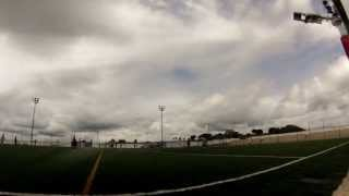 preview picture of video 'GoPro HERO3: Silver Edition - Football timelapse in cloudy sky'