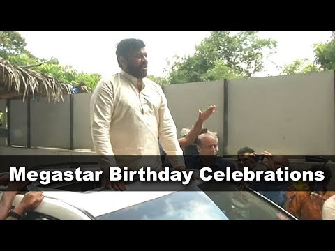 Chiranjeevi Birthday Celebrations At His Home