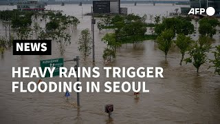 Heavy rains trigger flooding along Seoul's Han river | AFP