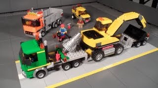 Lego 4203 Review Excavator Transport City Mining