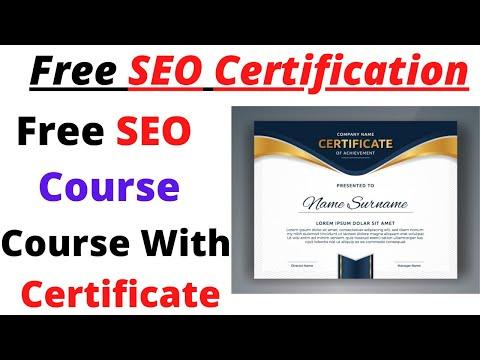 Free SEO Certification | free SEO Course 2020 |Bilal tech - YouTube