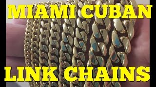 Gold MIAMI CUBAN LINK chains