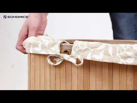 Songmics Wäschekorb aus Bambus LCB62YDE