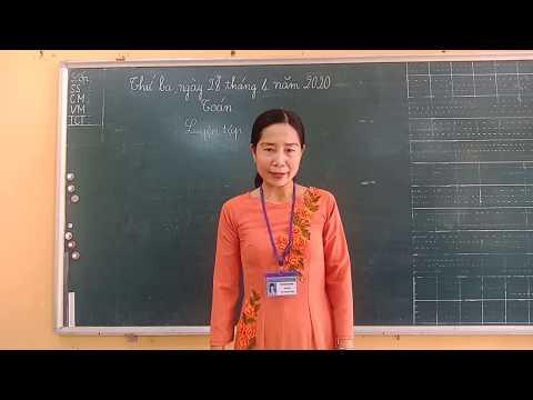 Môn Toán lớp 3, bài Luyện tập (SGK/105) (GV Bùi Thị Thu Trang, Trường TH C Phú Mỹ)