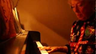 Doris Earussi Performs Silent Night and Misty on Piano for Christmas Day Dinner 2012