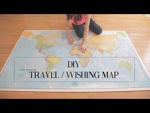 DIY-Reisewunschweltkarte - Markiere deine Traumziele