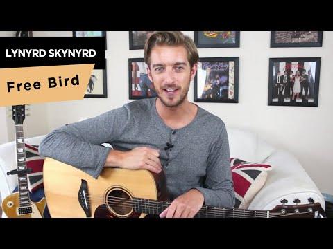 FREE BIRD chords guitar lesson tutorial  - Lynyrd Skynyrd - How To Play