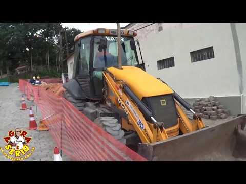 Sabesp faz obra na entrada da Estrada Velha de Juquitiba