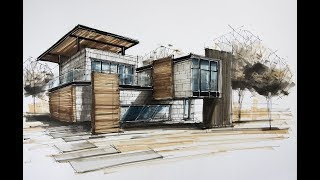 Architecture Sketching House 8