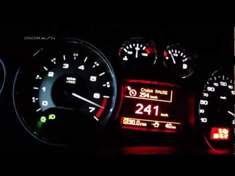 Peugeot RCZ 2013 1,6 THP 200 - acceleration 0-235 km/h