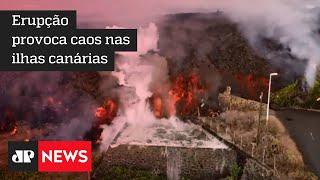 Vulcão Cumbre Vieja provoca coluna de gases de 4.500 metros