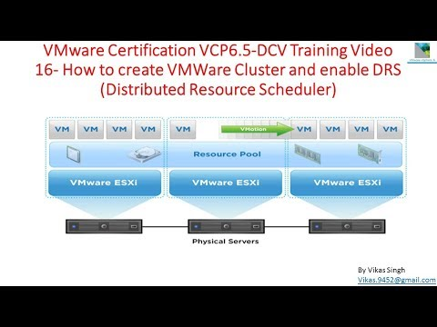 VMware Certification VCP 6.5 - 16 How to Create VMWare Cluster and enable DRS in VMWare vSphere 6.5
