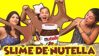 SLIME GIGANTE DE NUTELLA QUE DÁ PARA COMER  - Mileninha