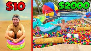 $10 vs $2000 Pool Parties! *BUDGET CHALLENGE*