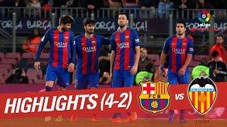 Resumen de FC Barcelona vs Valencia CF (4-2)