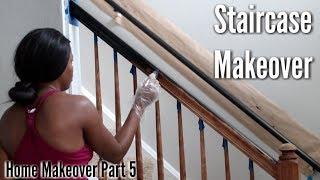 ✨Glam Home✨ HOME MAKEOVER PART 5 | Staircase Banister Makeover