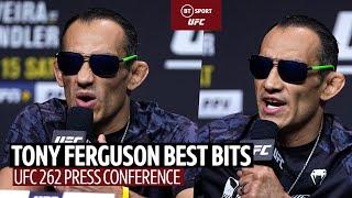 """You've got Dana White privilege!"" Tony Ferguson UFC 262 Press Conference highlights!"