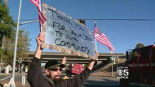 Santa Rosa Residents Thank Firefighters Finally Heading Home
