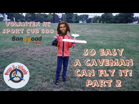 So easy a caveman can fly it! Volantex RC Sport Cub 500 from Banggood - Part 2