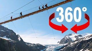 360° walk | «Trift» suspension bridge | Swiss Alps