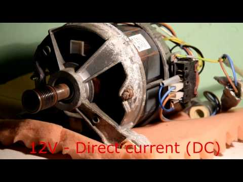 How To WIRE Washer Machine Electric Motor - part 2 (Slow Speed)