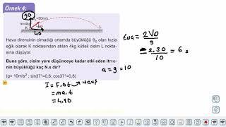 Eğitim Vadisi 11.Sınıf Fizik 11.Föy İtme ve Çizgisel Momentum 1 Konu Anlatım Videoları