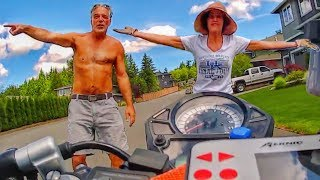 """STUPID, CRAZY & ANGRY PEOPLE VS BIKERS 2019 [Ep.#827] """"CRAZY PEOPLE JUMP OUT"""""""