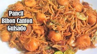 Pancit Bihon Canton Guisado Recipe (Filipino Noodle Dish)