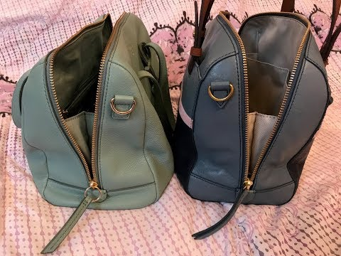 Comparison between the Fossil Sydney & The Fossil Rachel Satchel Bags
